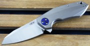 Zero Tolerance 0456 - Flipper - CPM-20CV Blade - Titanium Handles - Framelock - 0456