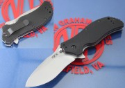 Zero Tolerance 0350SW - Stonewashed Plain Edge S30V Blade - Black G-10 Handle Scales - Linerlock - ZT0350SW - 0350SW