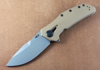 Zero Tolerance 0308 - KVT Coyote Tan Flipper - Framelock - CPM 20CV Plain Edge Blade