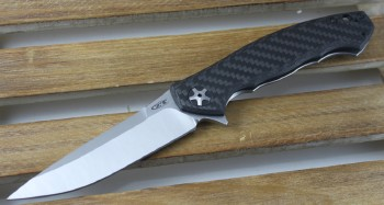 Zero Tolerance 0452CF - Flipper - S35VN Blade - Carbon Fiber/Titanium Framelock - 0452CF