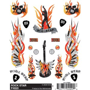 Dry Transfer Decals, Rock Star