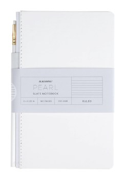 Blackwing Notebook with Pencil - Pearl | Ruled