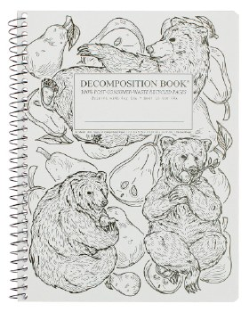 Michael Roger: Pear Bears Large Notebook