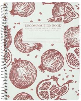Michael Roger: Pomegranates Large Notebook