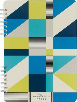 Cubic Geometic Shapes of Blue, Green & White