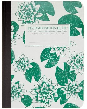 Michael Roger: Lily Pads Large Notebook
