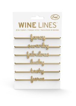 Wine Lines Drink Markers Gold
