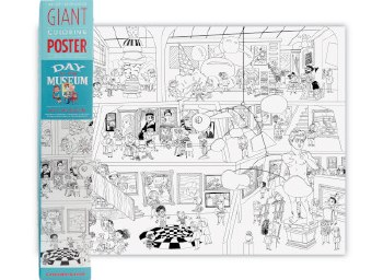Art Day At The Museum Giant Coloring Poster