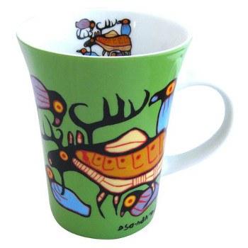 "Norval Morrisseau: ""Moose Harmony"" Mug"