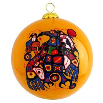 Norval Morrisseau: Man Changes into Thunderbird Glass Ornament