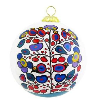 Norval Morrisseau: Woodland Floral Glass Ornament