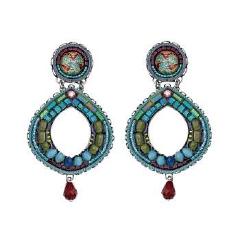 Ayala Bar: Hoop Earring - Turquoise Teardrops