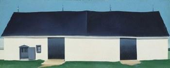 """Georgia O'Keeffe: White Canadian Barn II, 1932 - 11"""" x 14"""""""