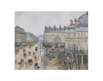 """Camille Pissarro: Place du Théâtre Français - 11"""" x 14"""""""