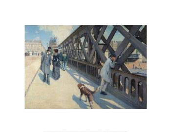 """Gustave Caillebotte: Le Pont de l'Europe - 22"""" x 28"""""""