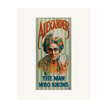 """Print: Alexander, The Man Who Knows - 20"""" x 16"""""""