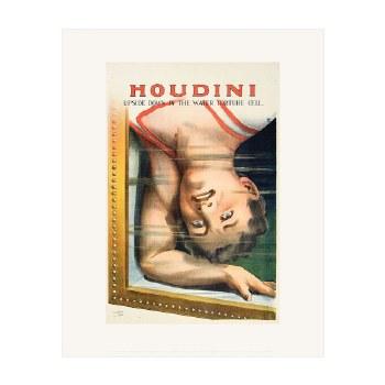 "Print: Houdini Upside Down  - 20"" x 16"""