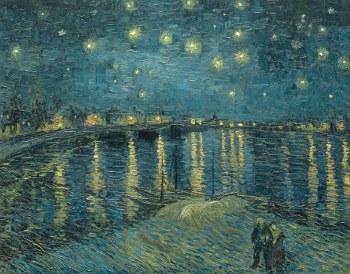 "Vincent van Gogh: Starry Night over the Rhone, 1888 - 11"" x 14"""