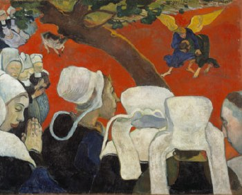 """Paul Gauguin: Vision After the Sermon, 1888 - 11"""" x 14"""""""