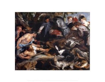 "Peter Paul Rubens: The Boar Hunt - 11"" x 14"""