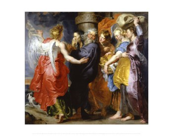 """Peter Paul Rubens: The Flight of Lot and his Daughters - 16"""" x 20"""""""