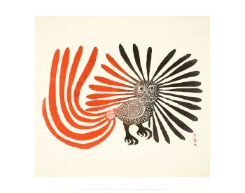 "Kenojuak Ashevak: The Enchanted Owl - 11"" x 14"""