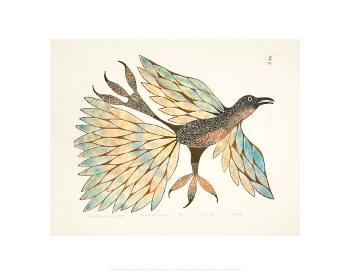 "Kenojuak Ashevak: Bird of the Summer Land - 11"" x 14"""