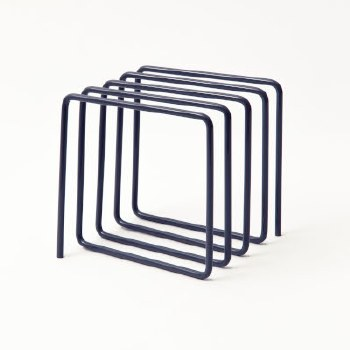 Block Magazine + Letter Holder - Grey