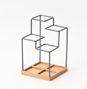 Block Pen Holder/Desk Caddy - Grey