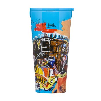 Corkcicle Basquiat Skull Travel Tumbler