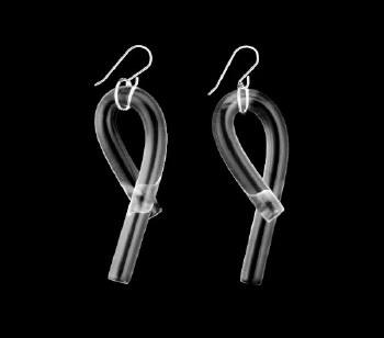 Corey Moranis Loop Earrings - Clear