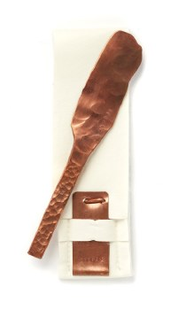 David Stepan: Hammered Copper Cheese Knife