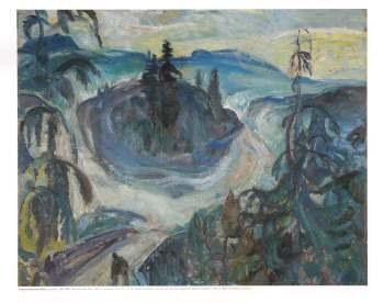 Frederick H. Varley: Moonlight After Rain, 1947