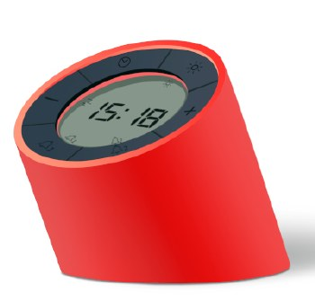 EDGE Light Alarm Clock - Red