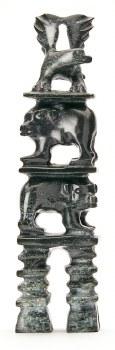 """Sculpture by Pavinak Petau Lassie: """"Bear Eagle Totem"""""""