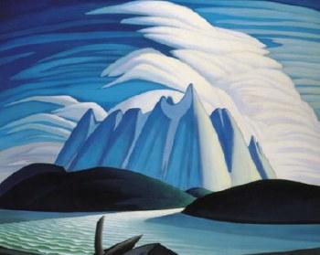 Lawren S. Harris: Lake and Mountains, 1928 - Art Block Format