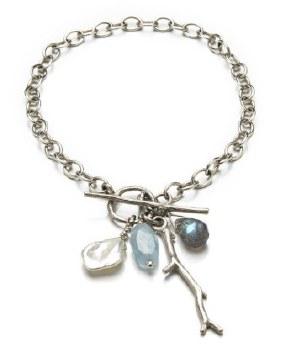 Laura Serrafero: Bracelet with Twig and Gemstones