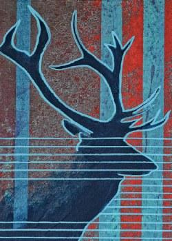 Bill Hensley: Bulk Elk Matted Print