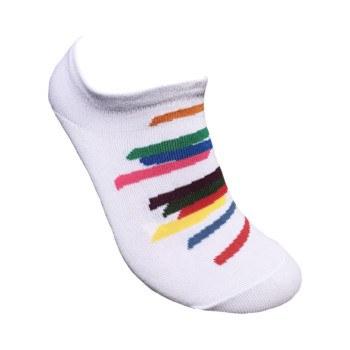 Jack Bush: Tempo Giusto White Ankle Sock
