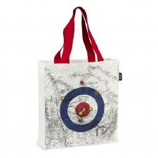Curling House & Canada Map Tote Bag