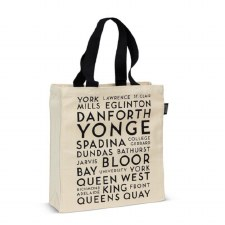 Tote Bag - Toronto Street Names