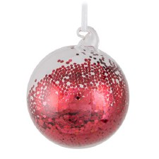 Ornament - Red Sequin Ball