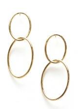 Infinity Hoop Earrings - Gold