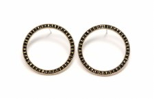 Portside Hoop Earrings - Black + Gold