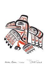 Bill Reid: Haida Raven, Matted Print