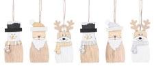 Ornament - Santa, Snowman, Reindeer Set