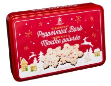 Saxon: Peppermint Bark Snowflake Tin