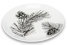 Pinecone and Branch Plate