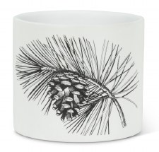 Pinecone and Branch - Planter