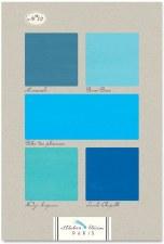 Bleus n12 - All Blues - French Colour Chart